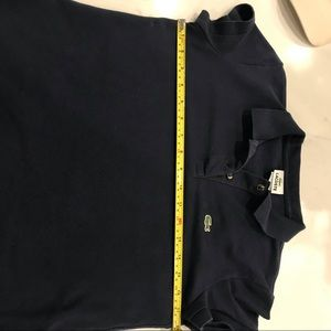 Lacoste Tops - Lacoste polo shirt size 42 navy blue